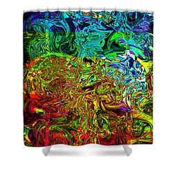 Excitement Sweeps The Room Shower Curtain by Johnny Trippick