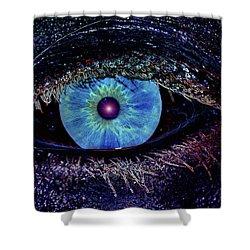 Eye In The Sky Shower Curtain by Joann Vitali