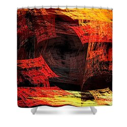 Eye Of The Storm 2 - Blown Away - Abstract - Fractal Art Shower Curtain by Andee Design