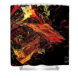 Eye Of The Storm 3 - Mass Chaos - Abstract - Fractal Art Shower Curtain by Andee Design