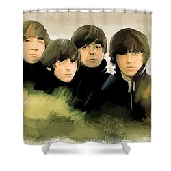 Eye Of The Storm The Beatles Shower Curtain by Iconic Images Art Gallery David Pucciarelli
