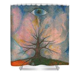 Eye Shower Curtain by Wojtek Kowalski