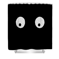 Eyes - My Eyes Are Up Here Shower Curtain by Mike Savad