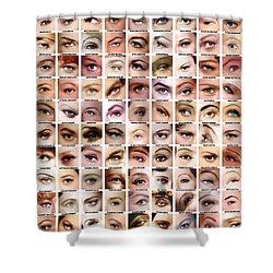 Eyes Of Hollywood - Old Era Shower Curtain by Taylan Soyturk