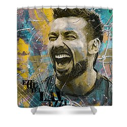 Ezequiel Lavezzi Shower Curtain by Corporate Art Task Force