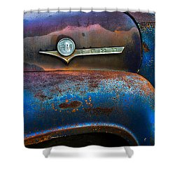 F-100 Ford Shower Curtain by Debra and Dave Vanderlaan