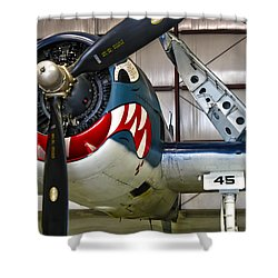 F6f Hellcat Shower Curtain by Dale Jackson