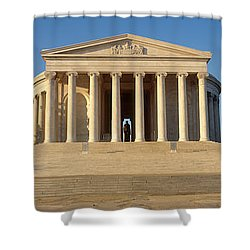 Facade Of A Memorial, Jefferson Shower Curtain by Panoramic Images