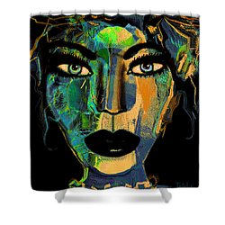 Face 16 Shower Curtain by Natalie Holland