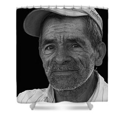 Face Of A Hardworking Man Shower Curtain by Heiko Koehrer-Wagner