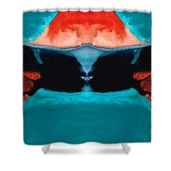 Face To Face - Abstract Art By Sharon Cummings Shower Curtain by Sharon Cummings
