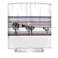 Face To The Wind Shower Curtain by Holly Kempe