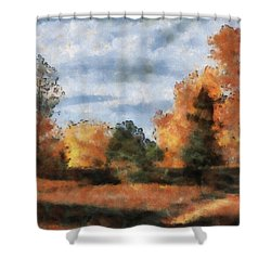 Fading Out Shower Curtain by Ayse Deniz