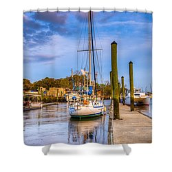 Faith Hope And Charity Shower Curtain by Debra and Dave Vanderlaan