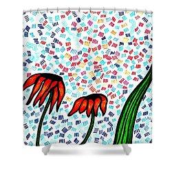 Faith Shower Curtain by Sarah Loft