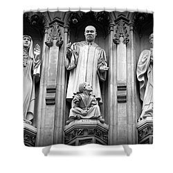 Faithful Witnesses -- Martin Luther King Jr Remembered With Bishop Romero And Duchess Elizabeth Shower Curtain by Stephen Stookey