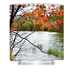Fall Landscape 1 Shower Curtain by Lanjee Chee