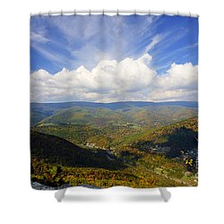 Fall Scene From North Fork Mountain Shower Curtain by Dan Friend