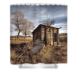 Fallen Windmill Shower Curtain by Dan Sabin