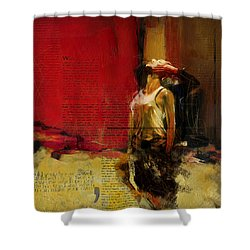 Falling In Love Shower Curtain by Corporate Art Task Force