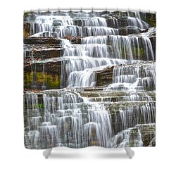 Falling Water Shower Curtain by Frozen in Time Fine Art Photography