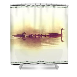 Family Outing Shower Curtain by Bill Cannon