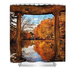 Fantasy - Paradise Waits Shower Curtain by Mike Savad