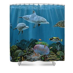 Fantasy Reef Re0020 Shower Curtain by Carey Chen