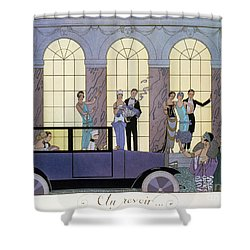 Farewell Shower Curtain by Georges Barbier