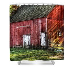 Farm - Barn - The Old Red Barn Shower Curtain by Mike Savad