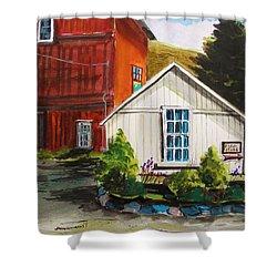 Farm Store Shower Curtain by John Williams