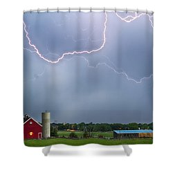 Farm Storm Hdr Shower Curtain by James BO  Insogna