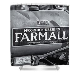 Farmall F-14 Tractor II Shower Curtain by Clarence Holmes