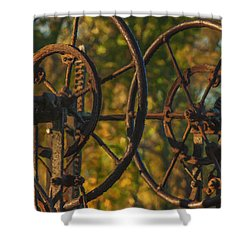 Farmers Tools Of Old Shower Curtain by Jack Zulli