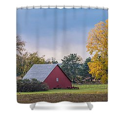 Farmstead With Fall Colors Shower Curtain by Paul Freidlund