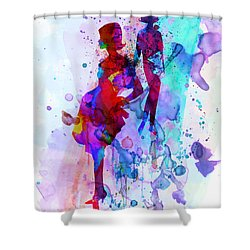 Fashion Models 5 Shower Curtain by Naxart Studio