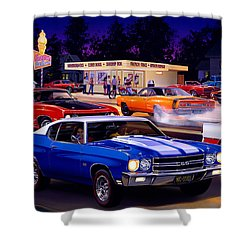 Fast Freds Shower Curtain by Bruce Kaiser