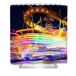 Fast Ride At The Octoberfest In Munich Shower Curtain by Sabine Jacobs