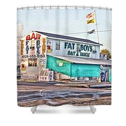 Fat Boys Shower Curtain by Scott Pellegrin