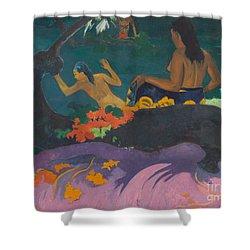 Fatata Te Miti  Shower Curtain by Paul Gauguin