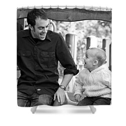 Father And Son II Shower Curtain by Lisa Phillips
