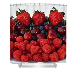 Feast Of Fruit Shower Curtain by Frozen in Time Fine Art Photography