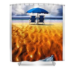Feather Light Shower Curtain by Mal Bray