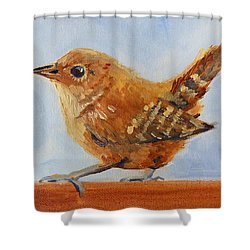 Feathered Shower Curtain by Nancy Merkle