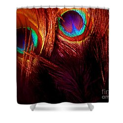 Feathers Shower Curtain by Newel Hunter