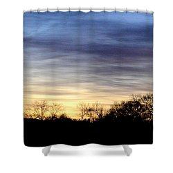 February 1 Dawn 2013 Shower Curtain by Maria Urso