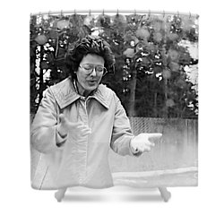 Feeling Rain Shower Curtain by Rory Sagner