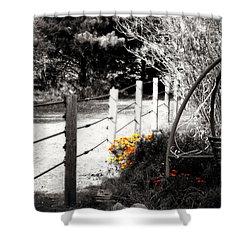 Fence Near The Garden Shower Curtain by Julie Hamilton