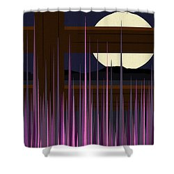 Fenced Field  Shower Curtain by Val Arie