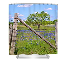 Fenced-in Beauty Shower Curtain by Lynn Bauer